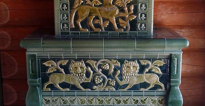 Изразцовый камин мастерской Куприяновых