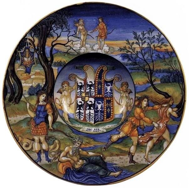 Майоликовая тарелка Никола да Урбино
