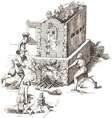Иллюстрация первого обжига