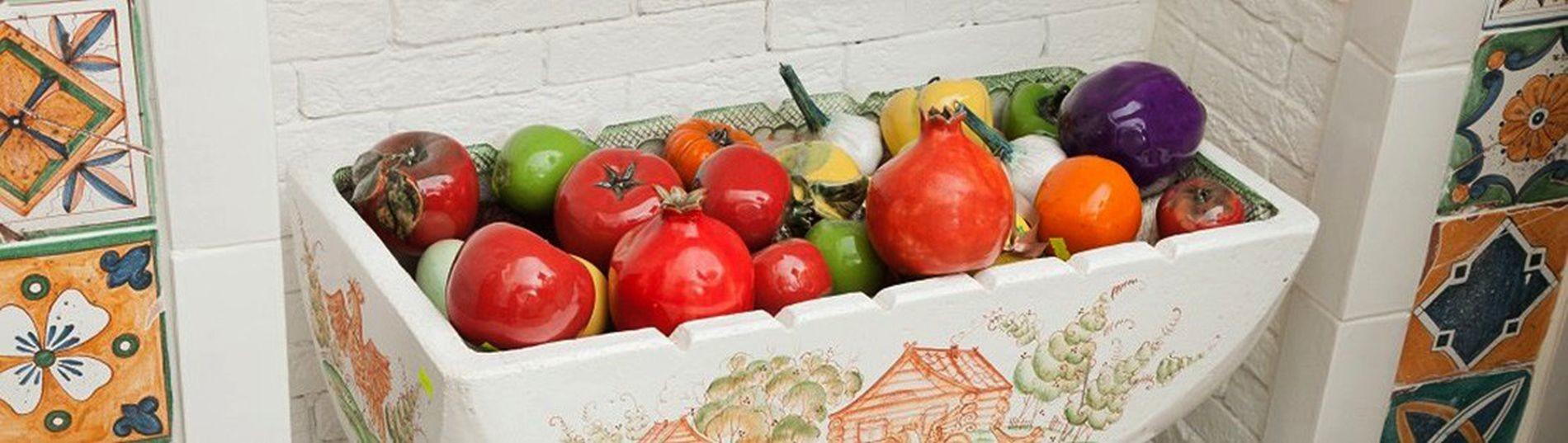 Керамические фрукты и овощи