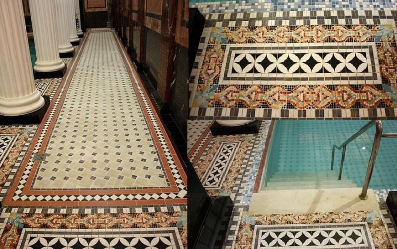 Метлахская плитка в Сандунах
