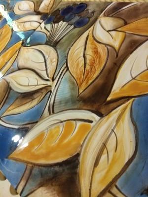 Фасадное панно Черноплодная Рябина. Фасадная керамика ручной работы.