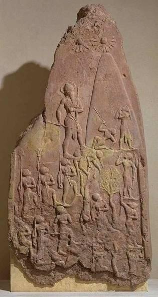 Фрагмент победной месопотамской стелы, предположительно 600 г. до н.э. Керамика