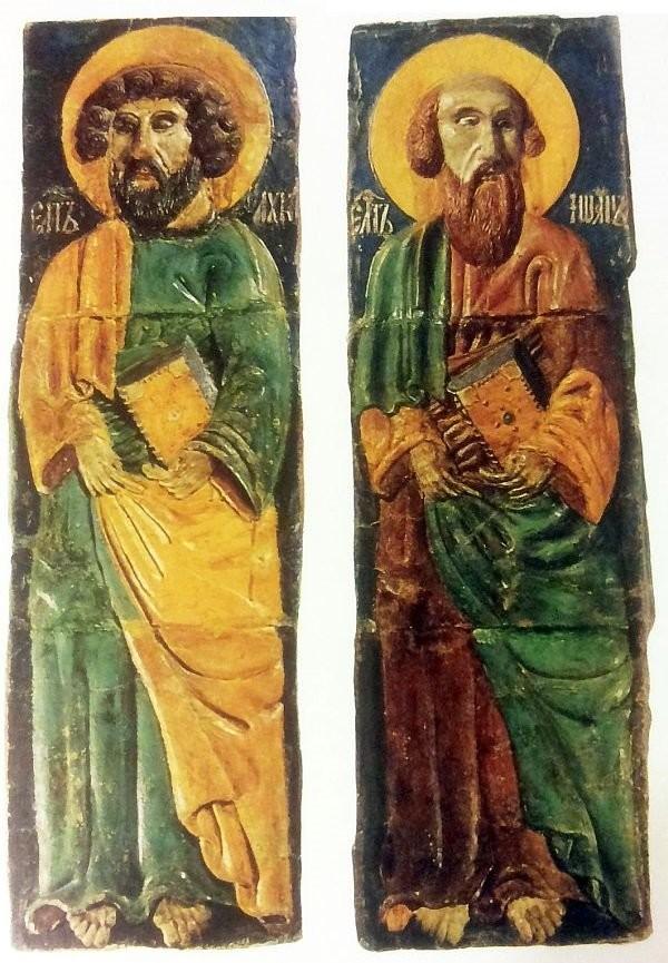 Горельефы Степана Полубеса Евангелисты Лука и Иоанн. Москва. XVII век