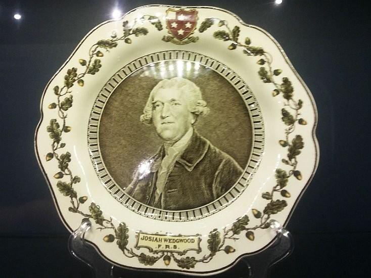 Тарелка с портретом Веджвуда