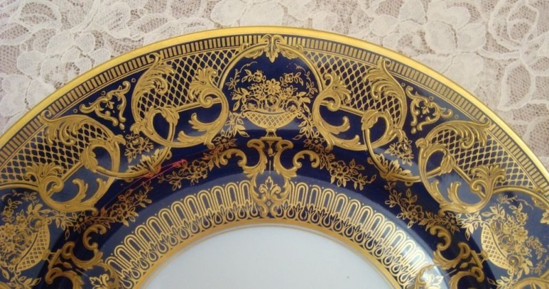 Кобальтовая кабинетная тарелка, Bernardaud