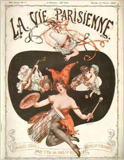Обложка журнала La Vie Parisienne. Февраль 1920 года