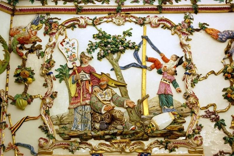 Фарфоровый кабинет в королевском дворце в Аранхуэсе