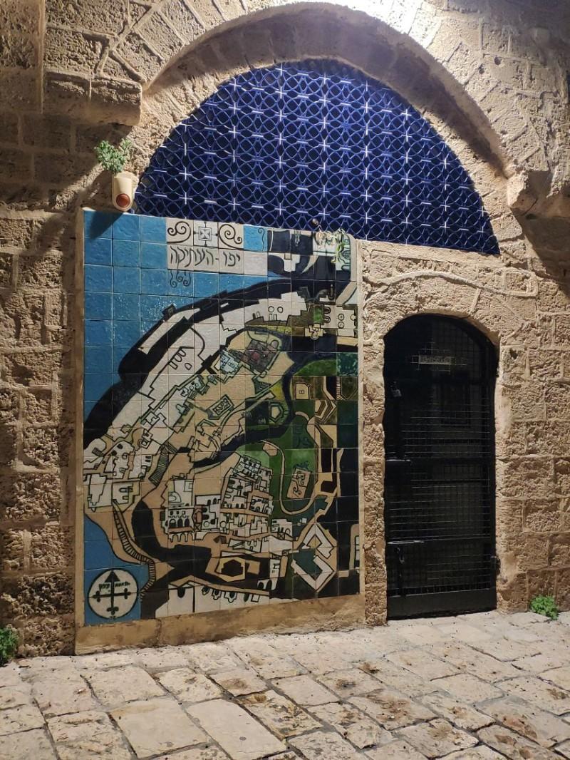 Старый Яффа. Карта