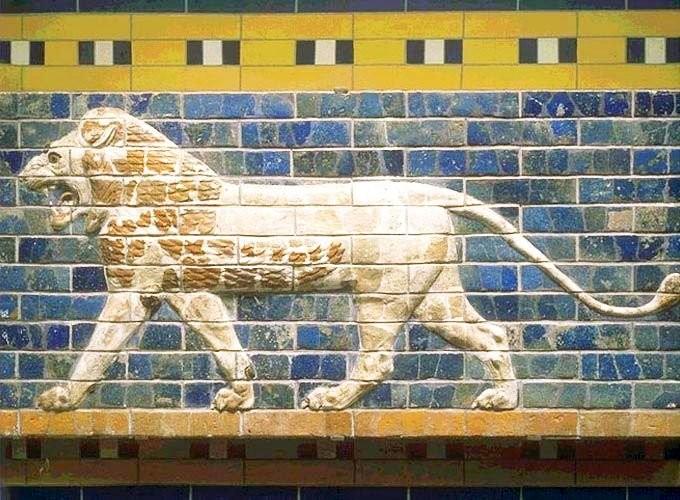 Рельеф стен дороги Мардука, VII-VI в. до н.э. Ирак, Вавилон. Керамика