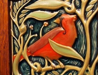 Рельефные птички Rookwood Pottery — прототипы наших изразцов.