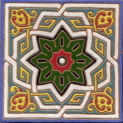 Геометрический орнамент на изразце