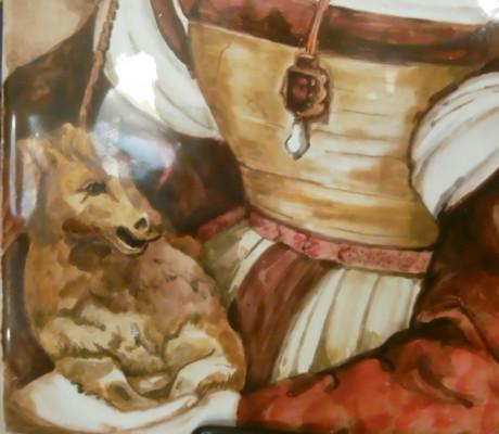 Керамическое панно Дама с единорогом