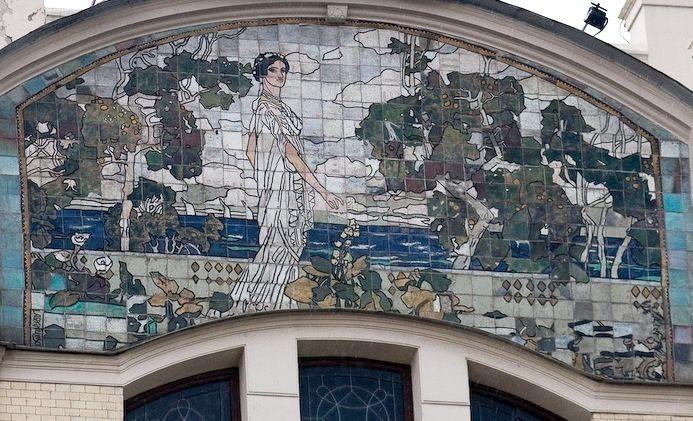 Керамические панно на гостинице Метрополь в Москве по эскизам Врубеля