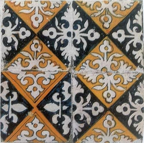 Ранние орнаментальные плитки Делфта, конец XVI века
