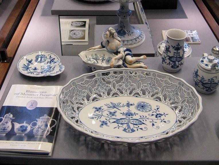 Голубой Шинуазри из Мейсенского музея