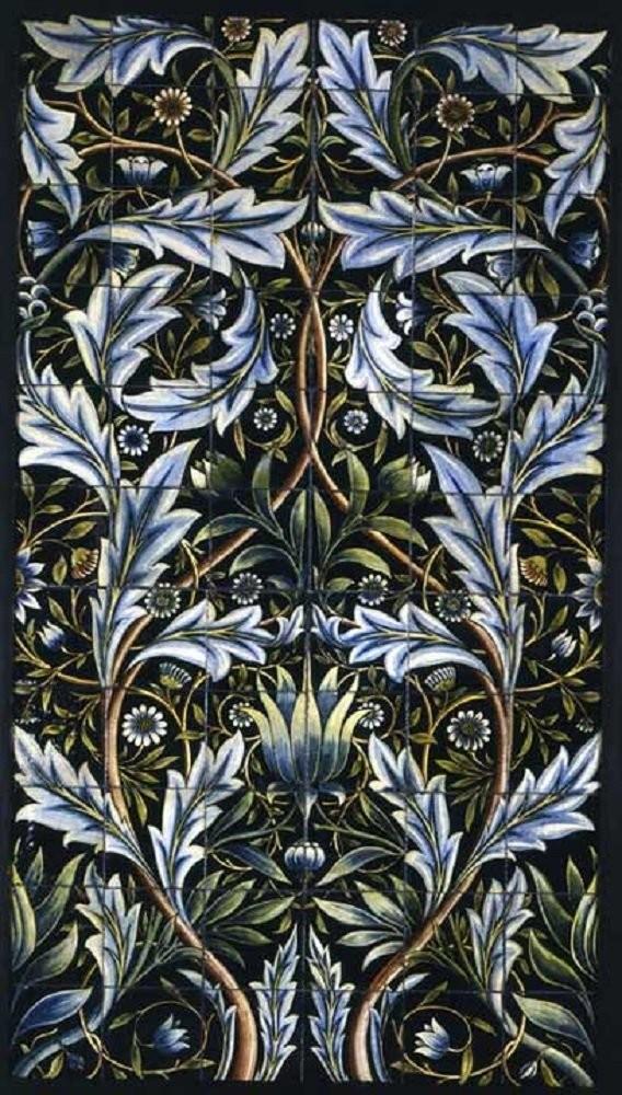 Керамическое панно Уильяма де Моргана в средневековом стиле