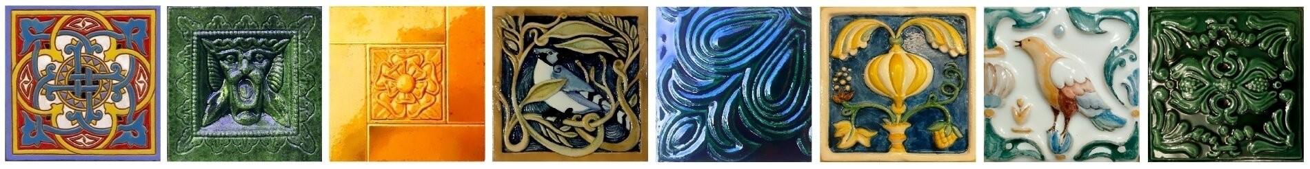 Купить рельефные и расписные изразцы ручной работы. Керамическая изразцовая плитка недорого. Фото, цена.