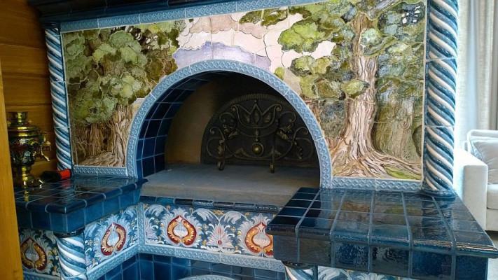 Изразцовая печь по мотивам Ивана Билибина