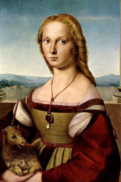 Дама с Единорогом. Рафаэль Санти. 1505-1506 год