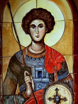 Керамическая икона Георгий-Победоносец
