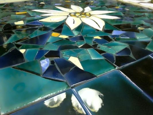 Мозаичная столешница Эдельвейс