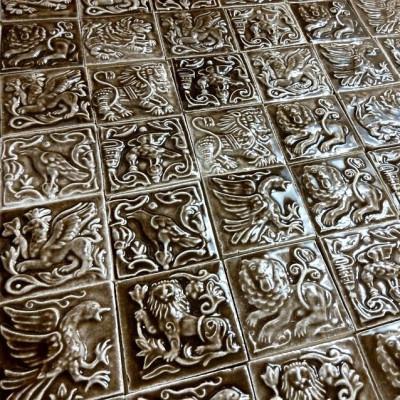 Суздальские майоликовые плитки ручной работы