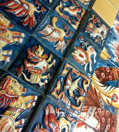 Расписные Суздальские плитки ручной работы