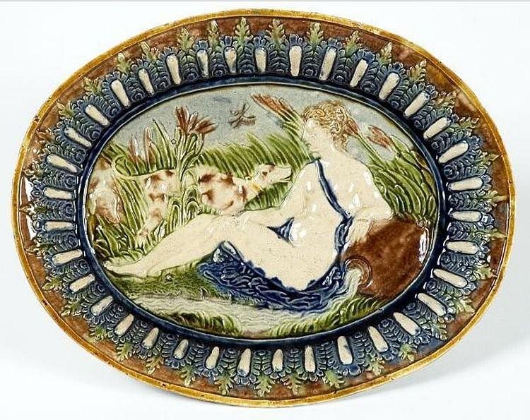 Блюдо с нимфой. Бернар Палисси. 16 век
