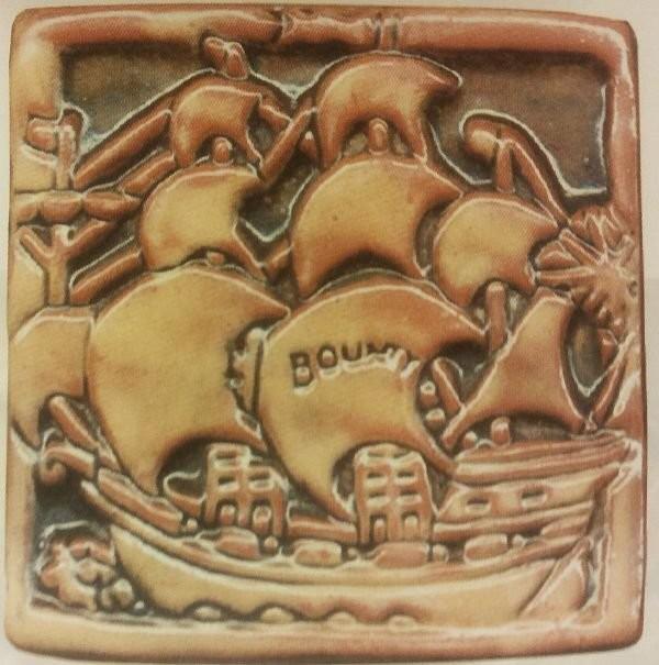 Изразец Moravian Pottery. Начало XX века