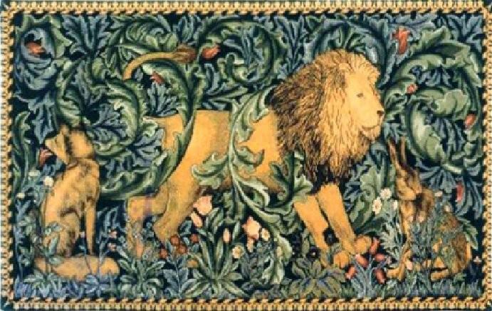 Гобелен со львом мастерской Уильяма Морриса