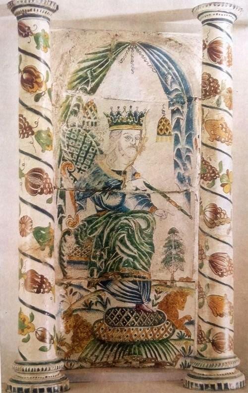 Фрагмент изразцовой печи. Москва. Вторая половина XVIII века