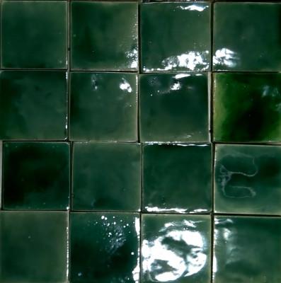 Зеленая фасадная майолика