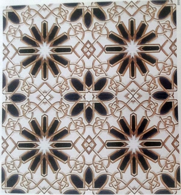 Плитка с мавританским орнаментом производства American Encaustic Tiling Co. 1920 год