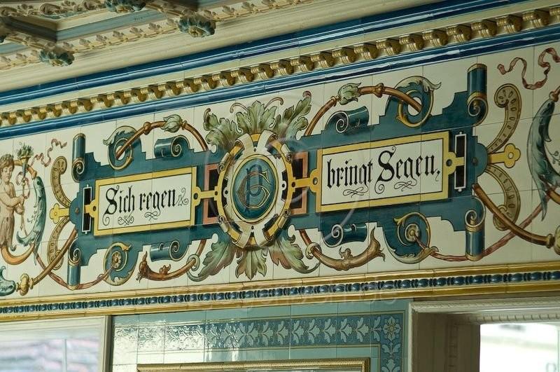 Керамические панно Villeroy & Boch в молочной Пфунда в Дрездене