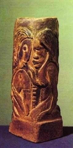 Ваза с изображениями таитянских богов Хины и Тефатоу. 1894-1895 гг