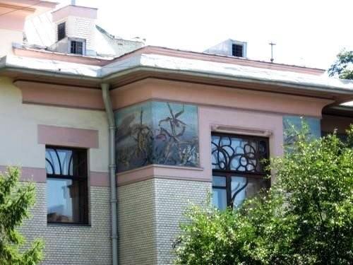Особняк Рябушинского по проекту Ф.О. Шехтеля, с мозаичными фризами на фасадах